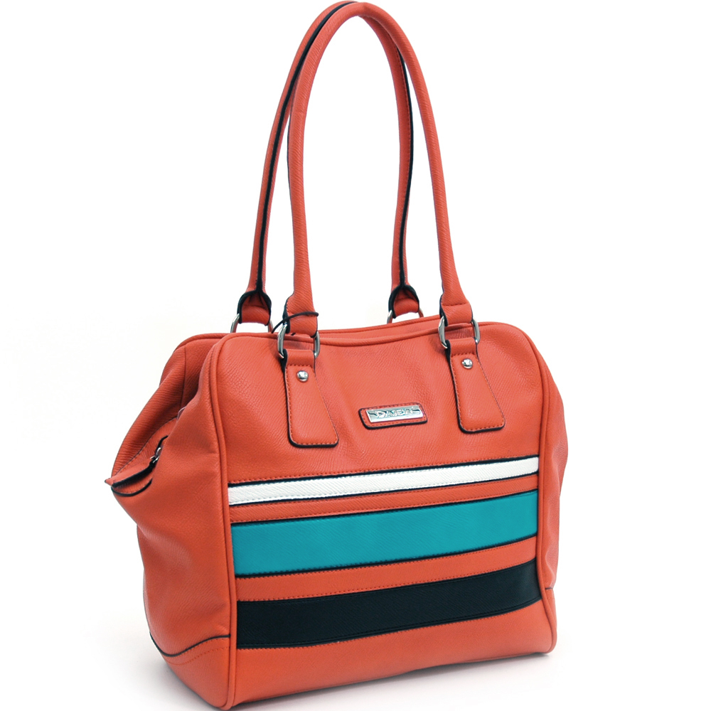 Dasein® Multicolor Striped Tall Shoulder Bag