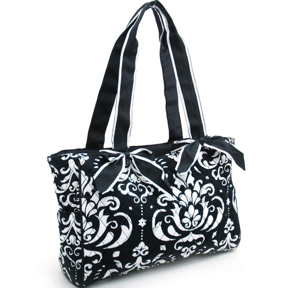 Fashlets Generic Quilted Damask Print Shoulder Bag