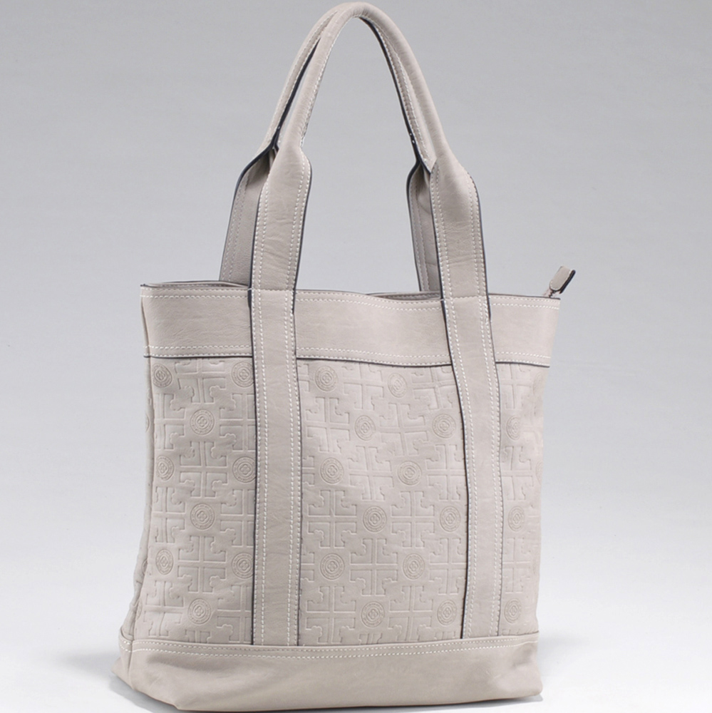 Color Popping Tote Bag with Fashion Inspired Etched Design