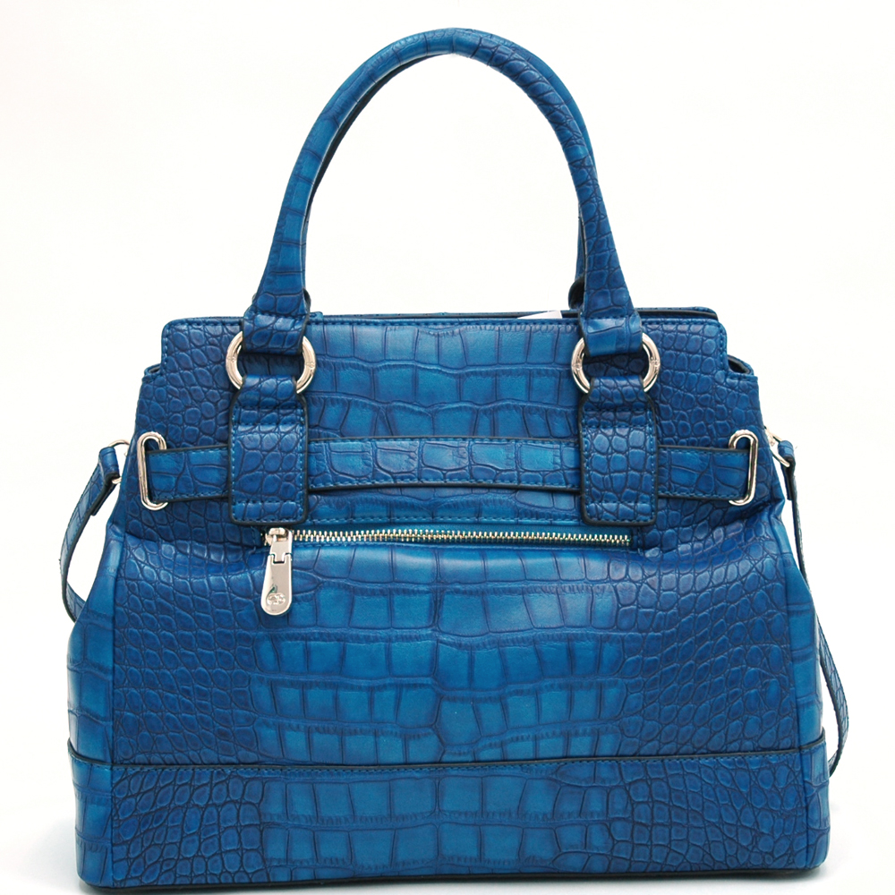 Anais Gvani® Pelham Bay Park Belted Large Croco Tote