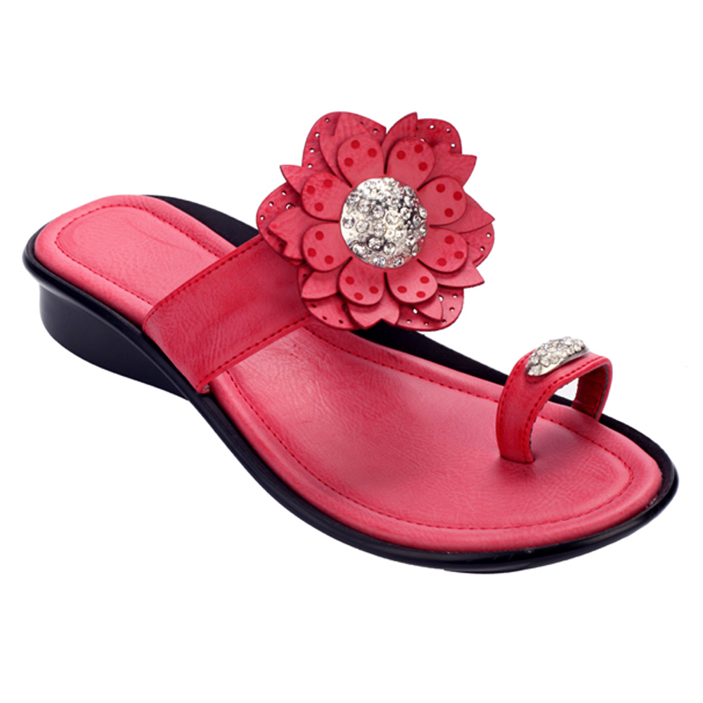 Toe-ring Summer Sandals w/ Flower and Rhinestone Accents