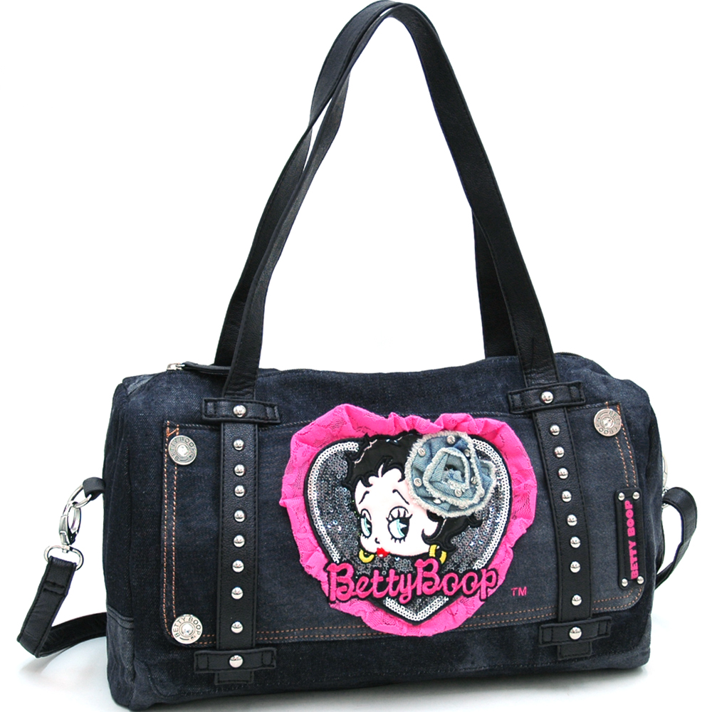 Betty Boop® Original Laced & Faded Shoulder Bag