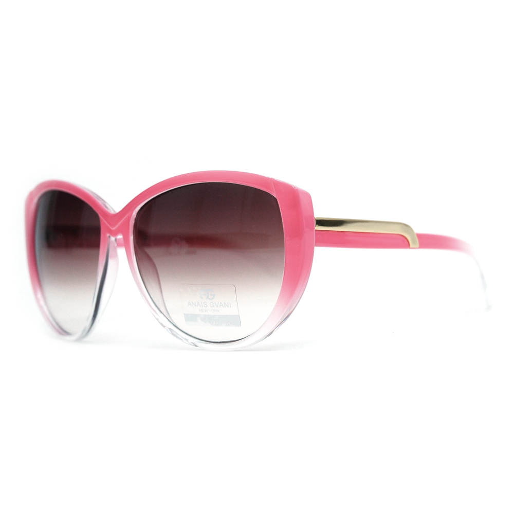 Classic Round Sunglasses  Soft Pointy Angles and Side Metallic Accent