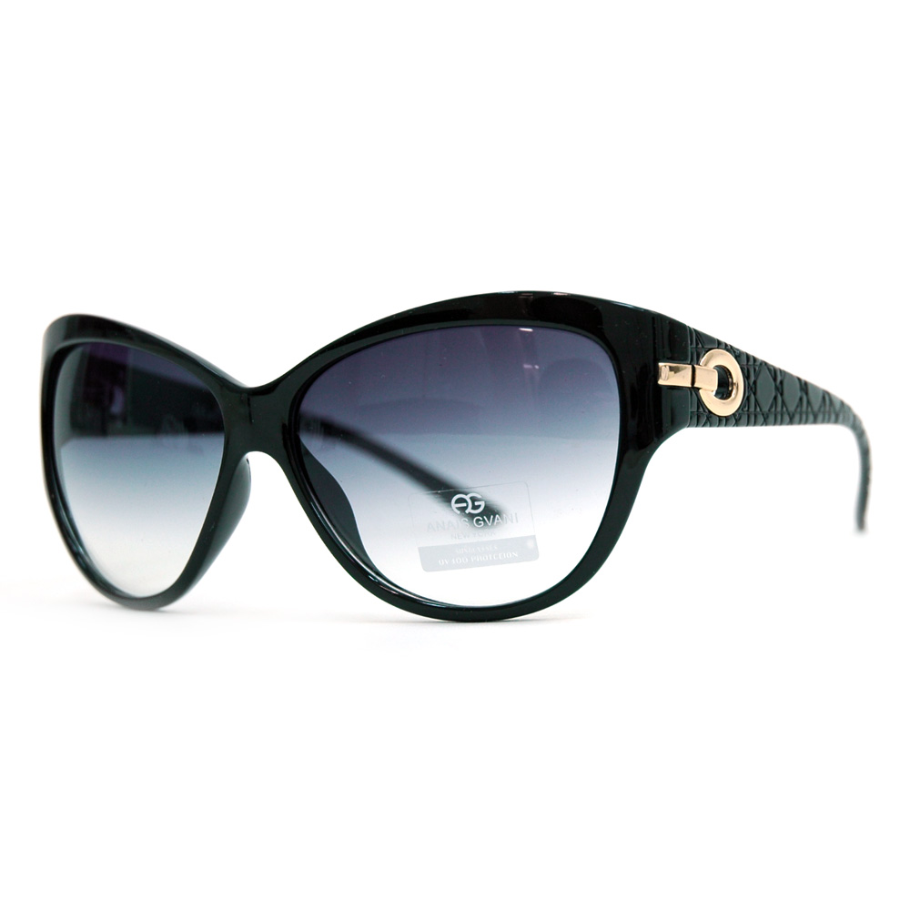 Feminine Fashion Sunglasses w/ Quilt-like Texture Design on Side