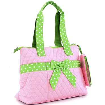 Down Home Dotty 3Piece Diaper Tote