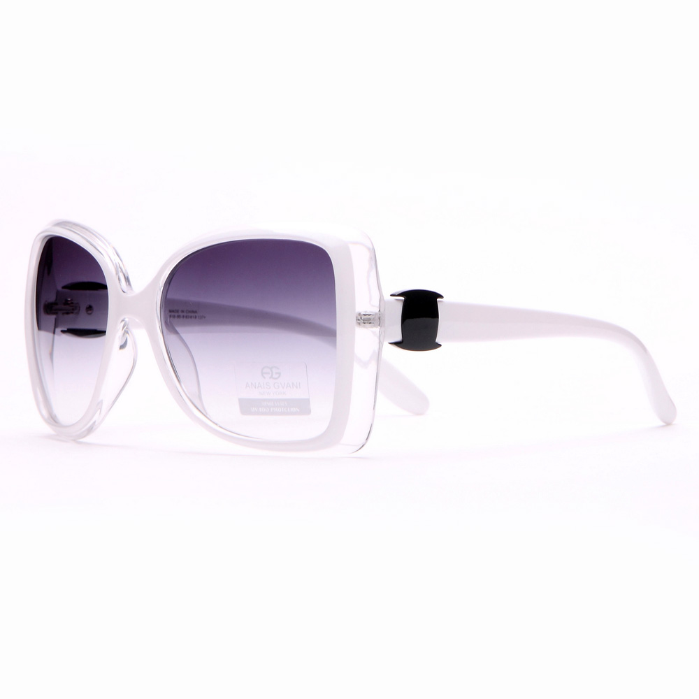 Anais Gvani ® Women's Inverted Fashion Frame Sunglasses-White