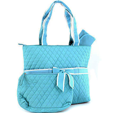 Quilted 3-Piece Diaper Tote