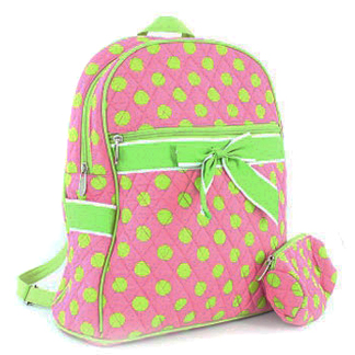 Fashlets Generic Quilted Polka Dot Convertible Backpack