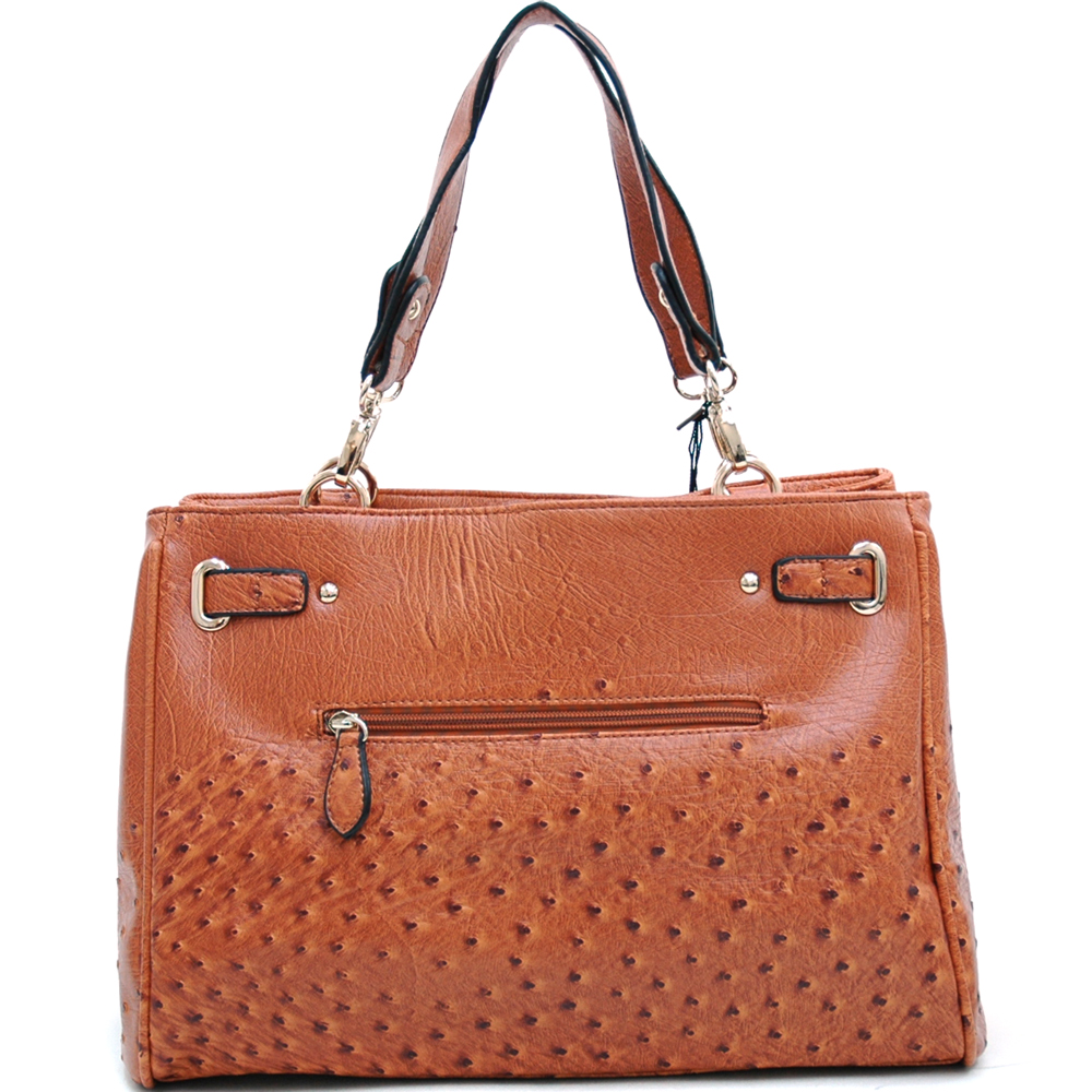 Emperia® Faux Ostrich Skin Shoulder Bag