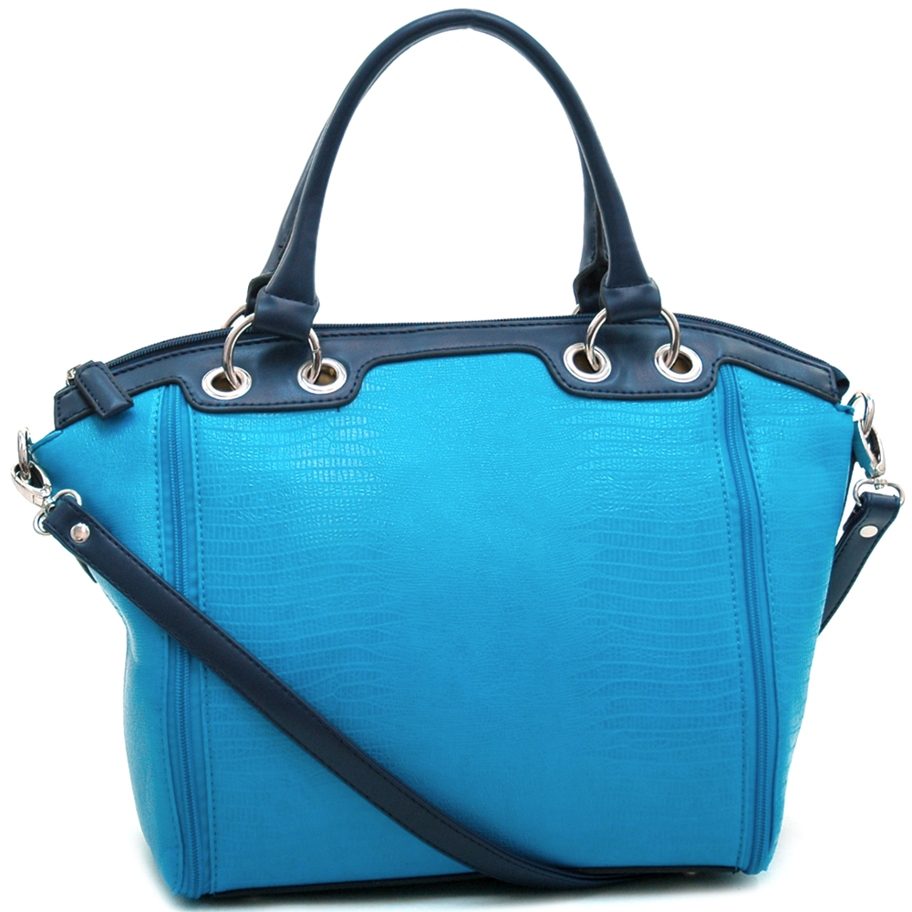 Dasein Kroco® Side Zippered Tote