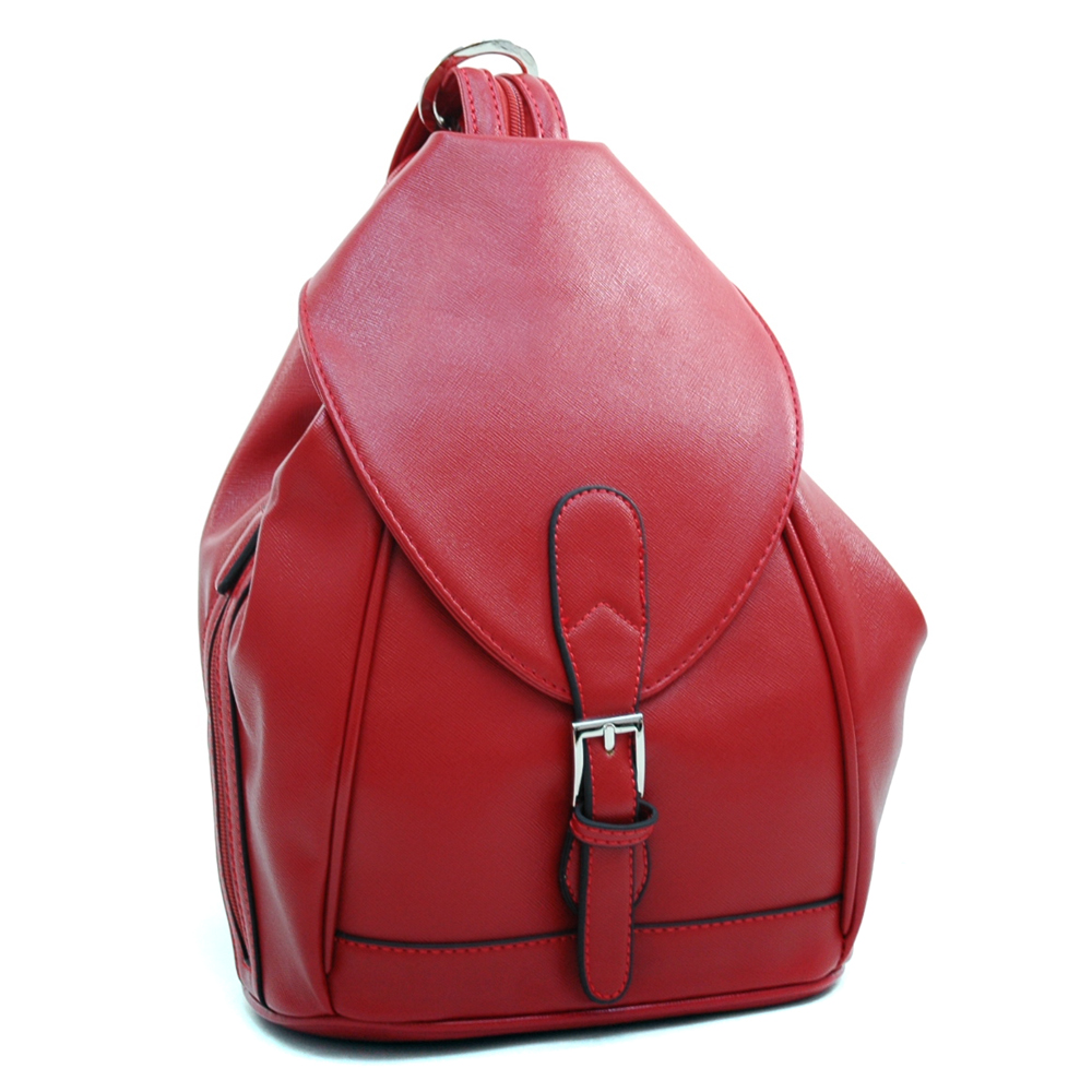 Dasein Convertible Stylish Backpack / Shoulder Bag with Zippe Strap
