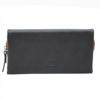 Anais Gvani® Cadman Plaza Zippered Snap Closure Genuine Leather Wallet