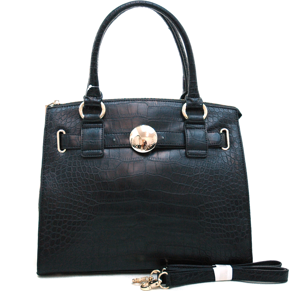 Anais Gvani® Pelham Bay Park Belted Medium Croco Tote