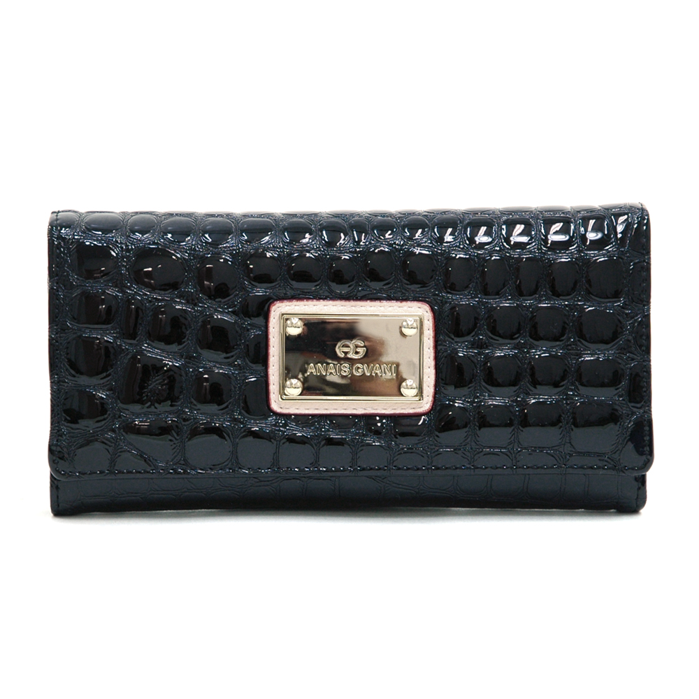 Anais Gvani® Battery Park Classic Croco Folded Wallet