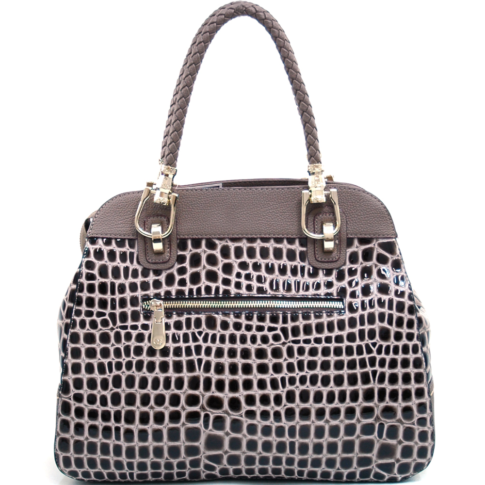 Anais Gvani® Battery Park Flat Top Croco Tote