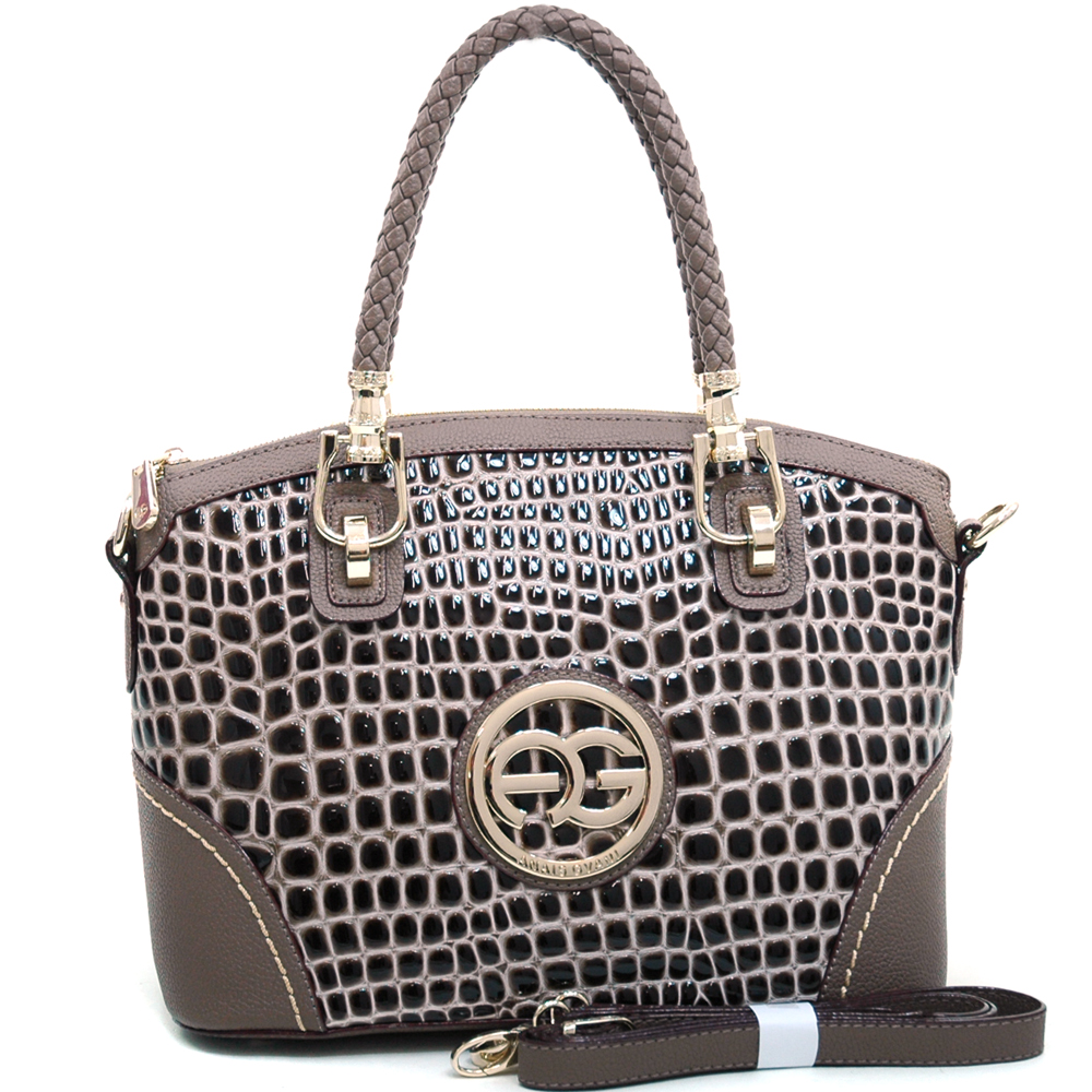 Anais Gvani® Battery Park Arched Top Croco Tote