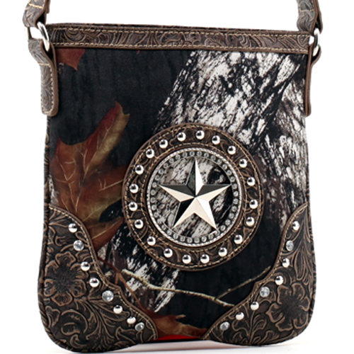 Mossy Oak® Arctic Camo Star & Floral Trim Crossbody