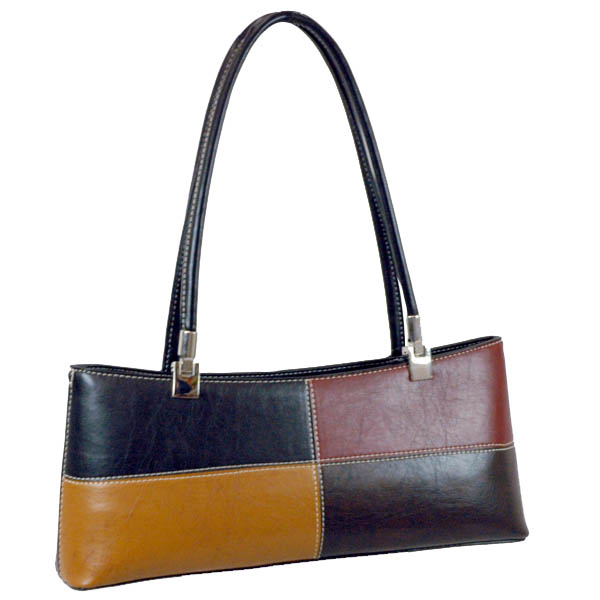 Vani Elegant Designer Inspi Fine Textu Shoulder Bag-Black///Coffee