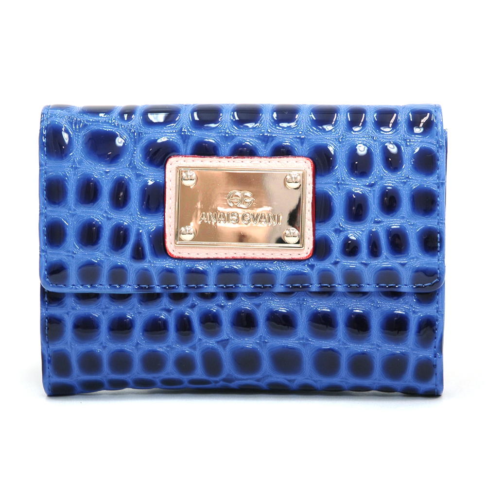 Anais Gvani® Battery Park Petite Croco Folded Wallet