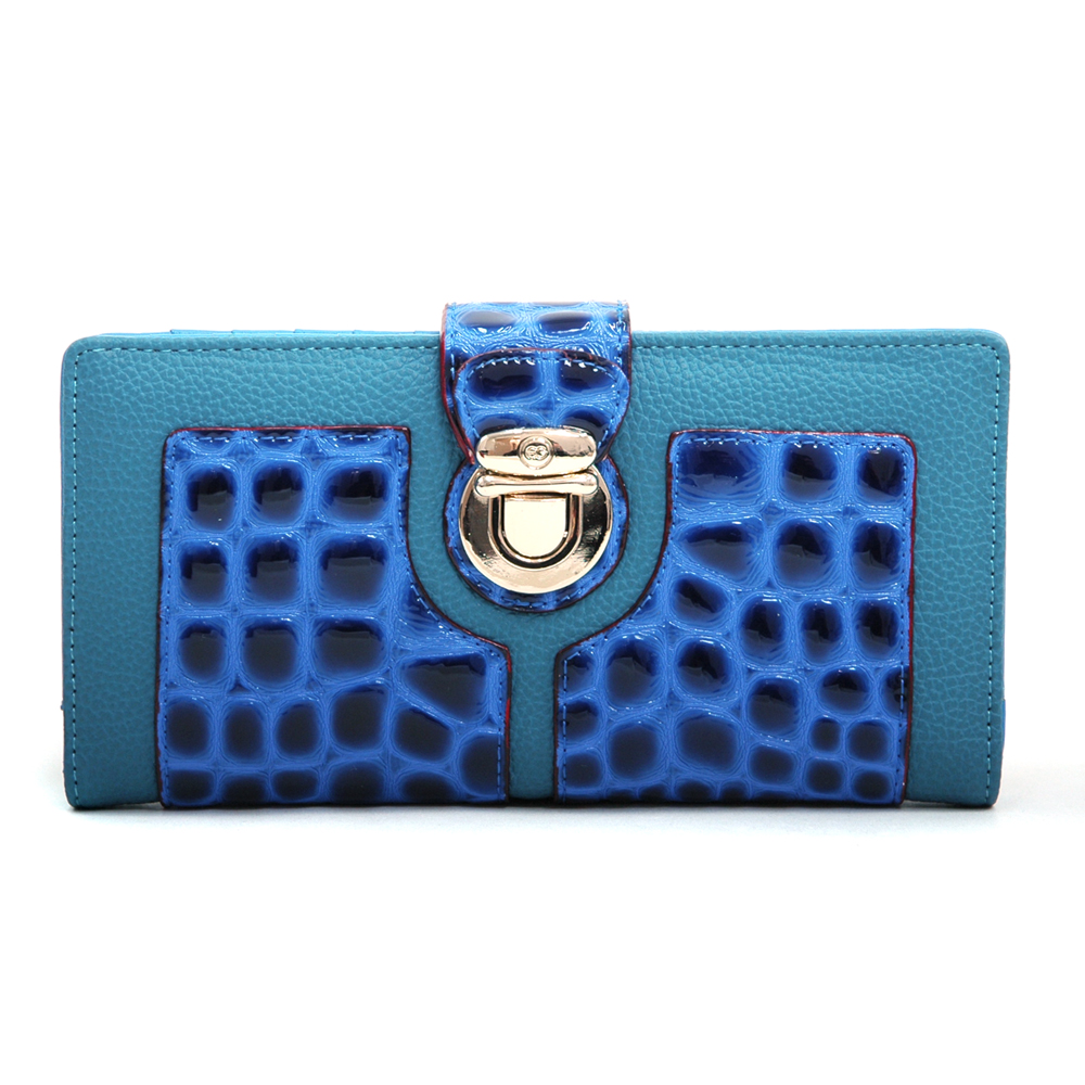 Anais Gvani® Battery Park Snap Buckle Croco Wallet