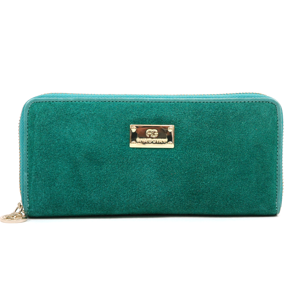 Anais Gvani® Bennette Park Long Suede & Genuine Leather Wallet