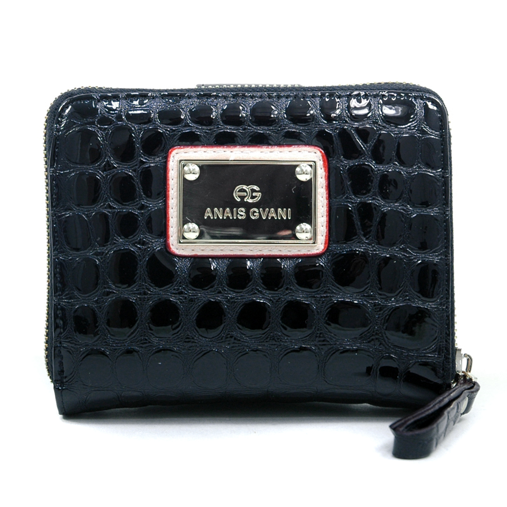 Anais Gvani® Battery Park Straight Edged Croco Wallet