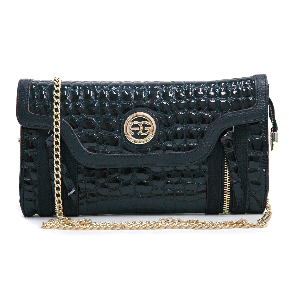 Anais Gvani® Battery Park Croco Clutch