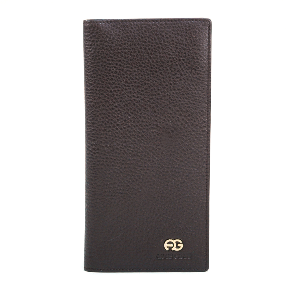 Anais Gvani® Men's Genuine Top Grain Leather Long Bi-fold Wallet