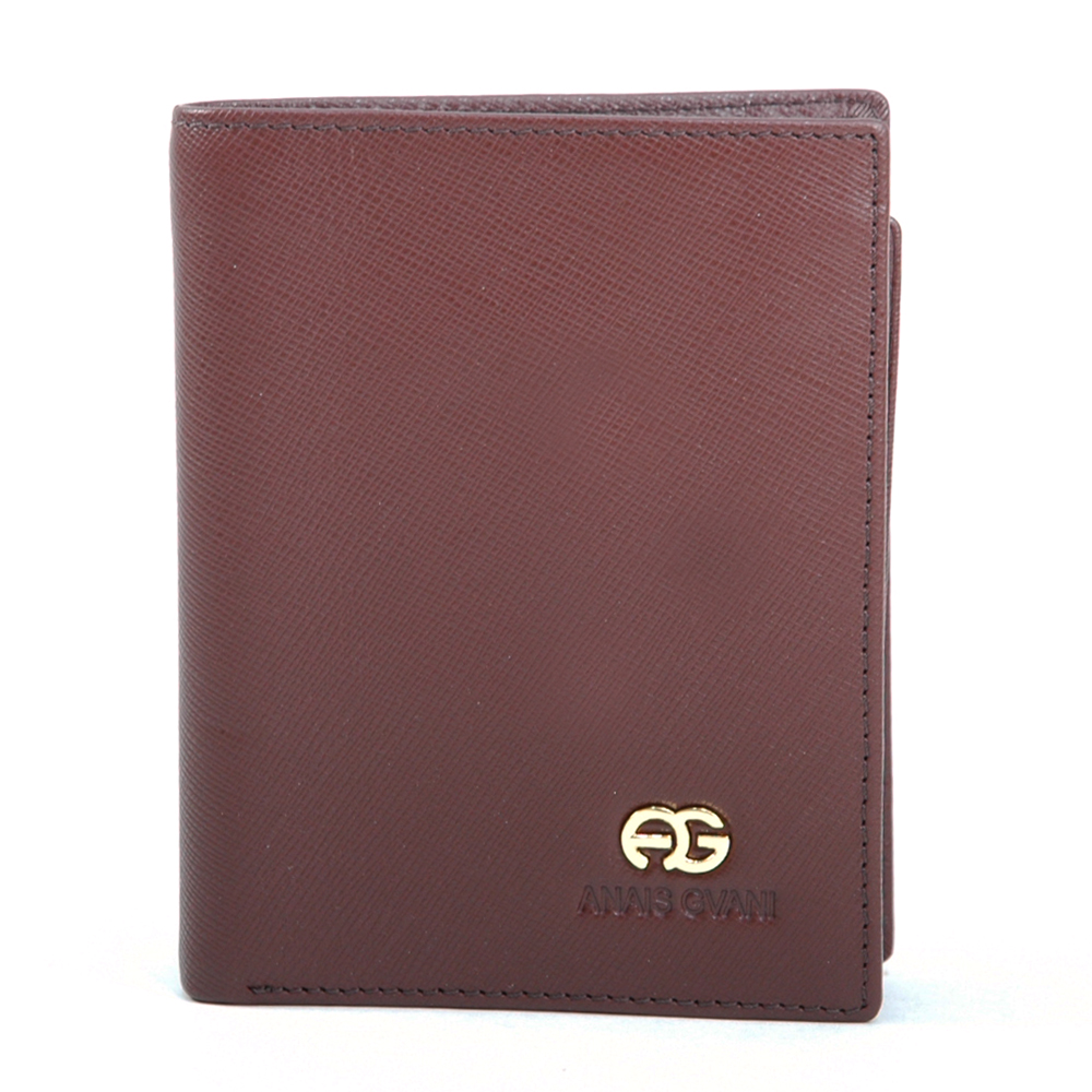 Anais Gvani® Men's Genuine Fine Grain Leather Wallet