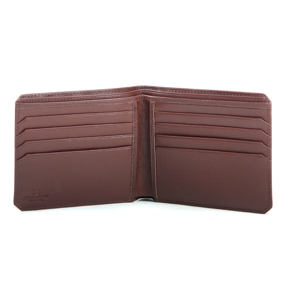 Anais Gvani® Men's Genuine Fine Grain Leather Wallet with Cut-off Corner Style