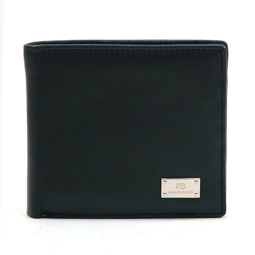 Anais Gvani® Central Park Square Genuine Leather Men's Wallet