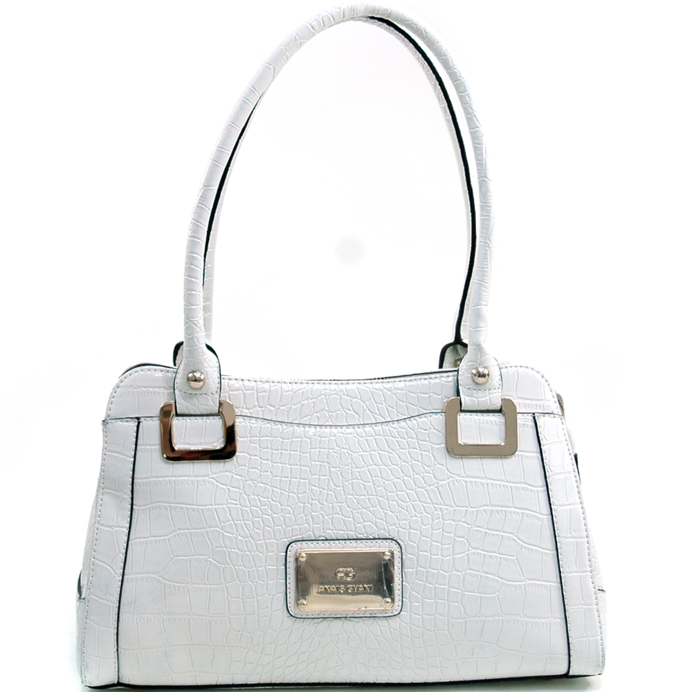 Anais Gvani® Riverside Park Plated Logo Shoulder Bag