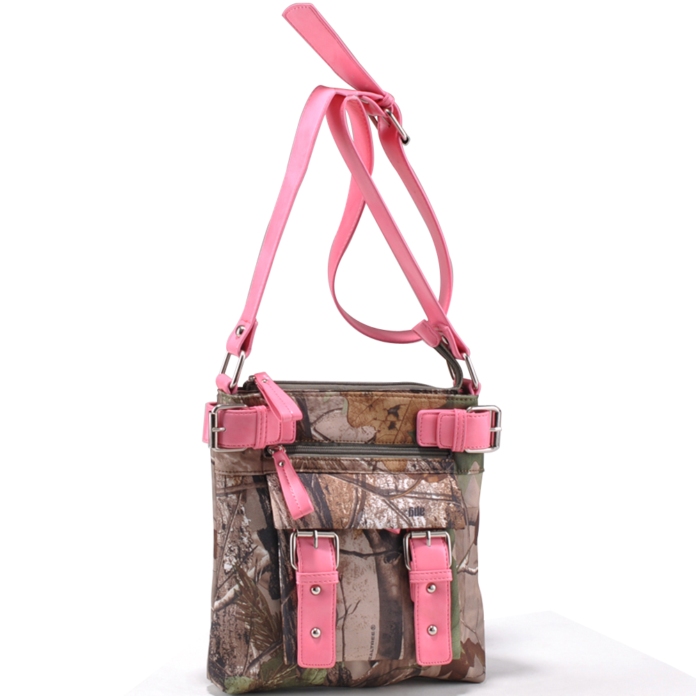 Realtree ® camouflage fashion messenger bag - Camouflage / Pink
