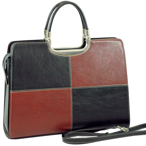 Woman Designer Briefcase   Black Red