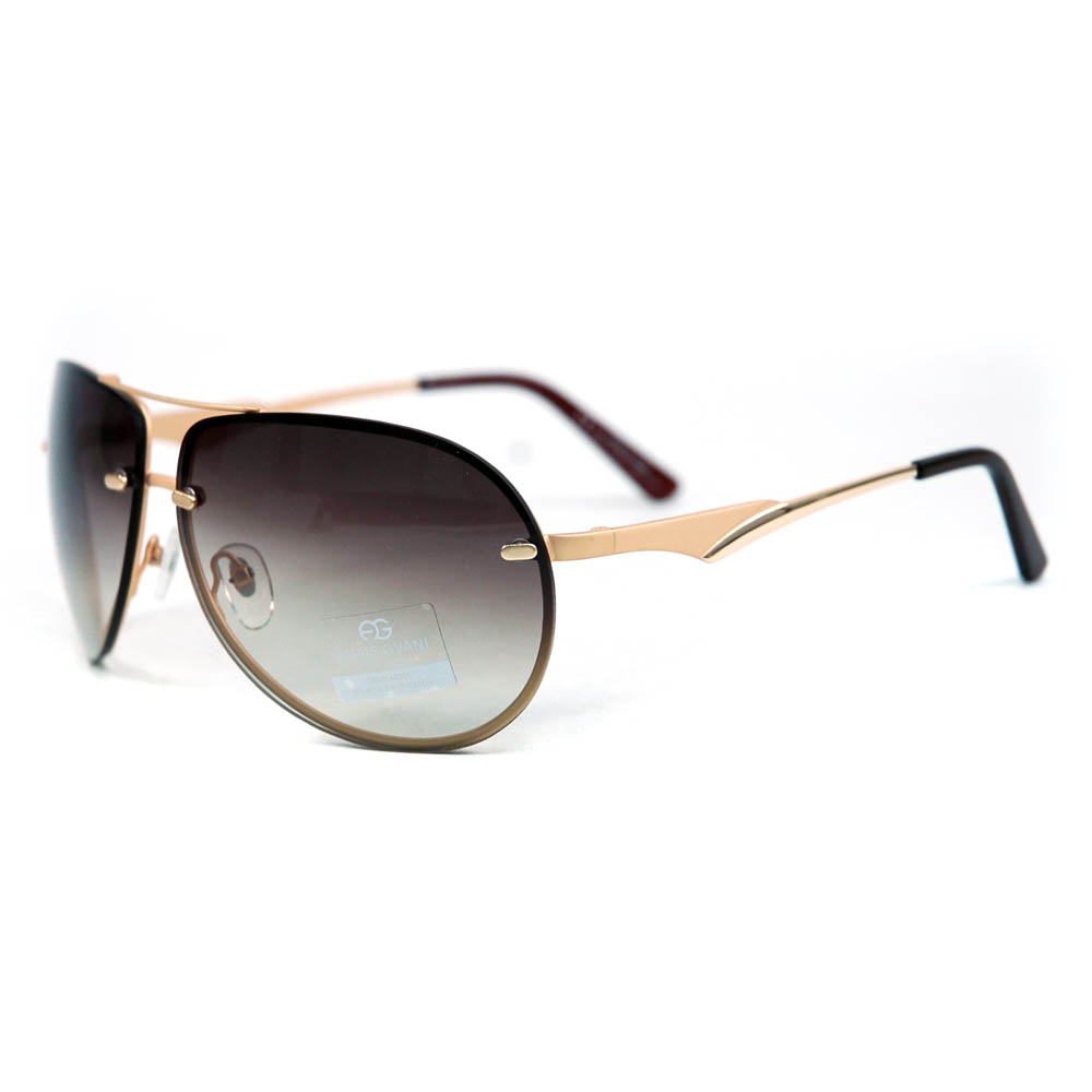 Women's Classic Aviator Sunglasses w/ Subtle Wing Arch on Arm