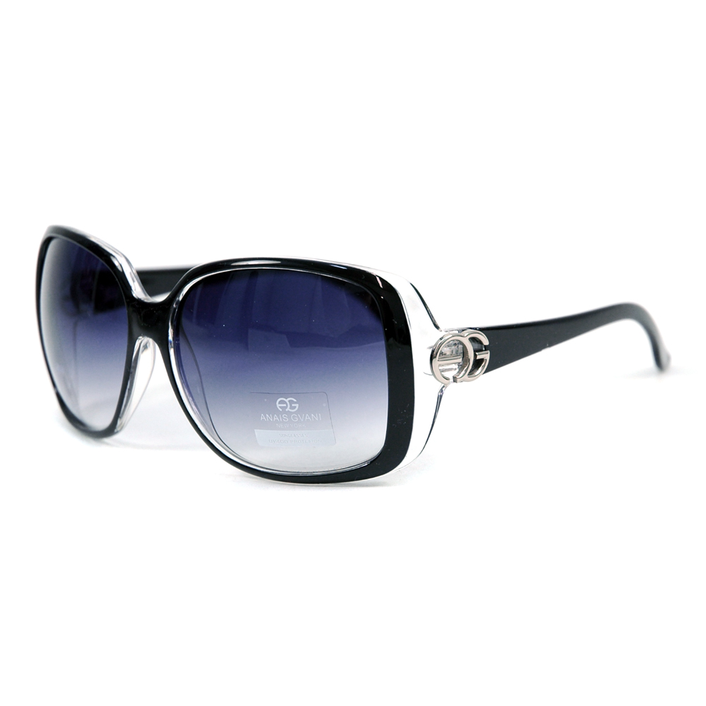 Women's Classic Square Frame Sunglasses w/ Sophisticated Logo Accent