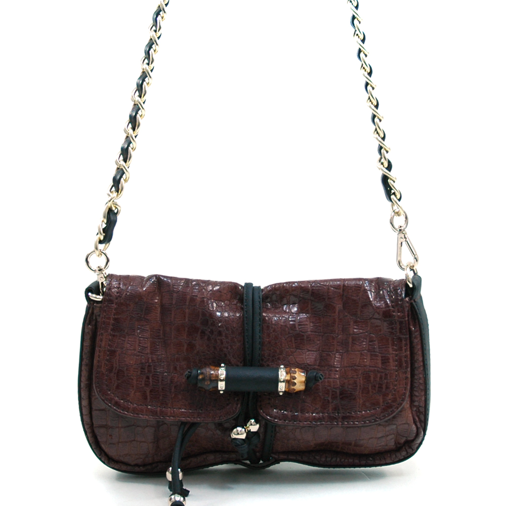 Anais Gvani® Prospect Park Beaded Croco Shoulder Bag