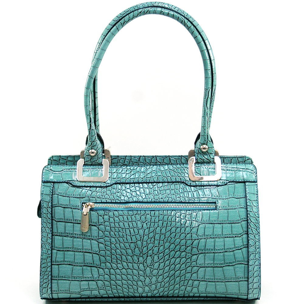 Anais Gvani® Riverside Park Croco Flat Top Shoulder Bag