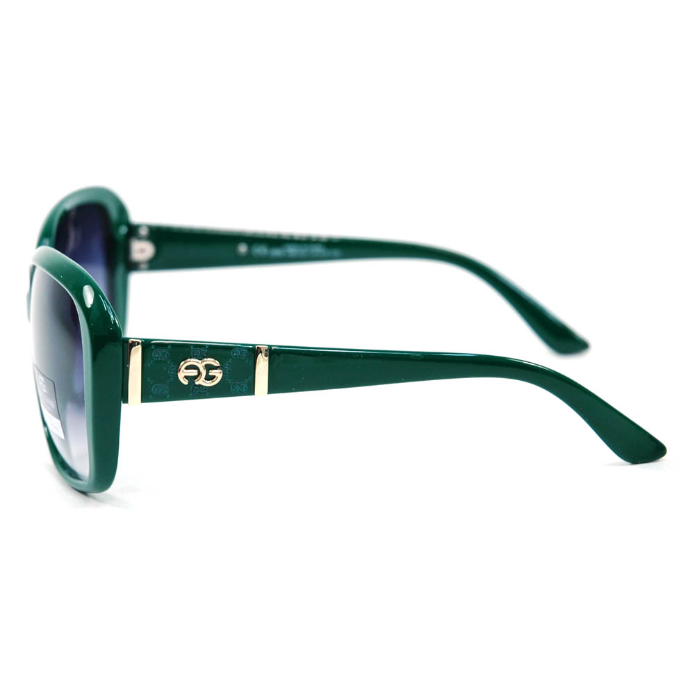 Women's Classic Square Frame Sunglasses w/ Logo Accent