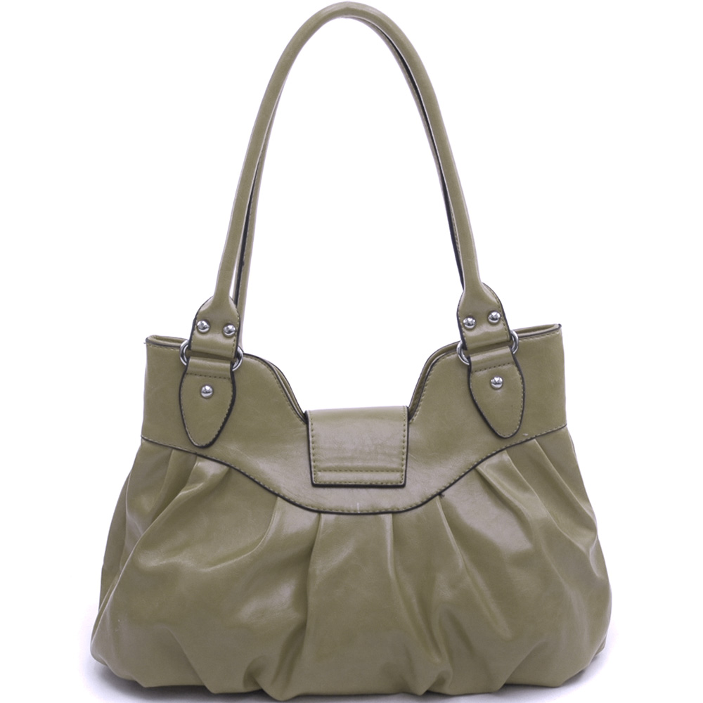 Dasein Aletheia® Dual Zipper Turn-Lock Shoulder Bag