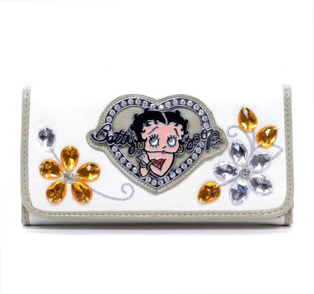 Betty Boop® Flower Gemstone  Checkbook Wallet