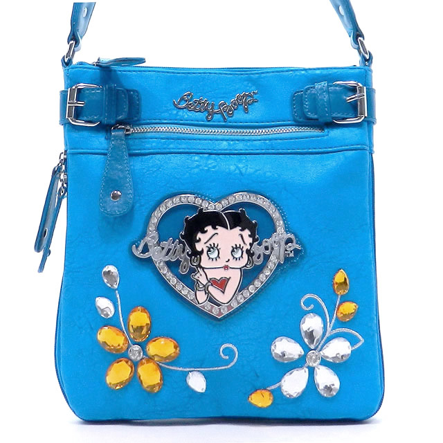Betty Boop® Flower Gemstone Crossbody