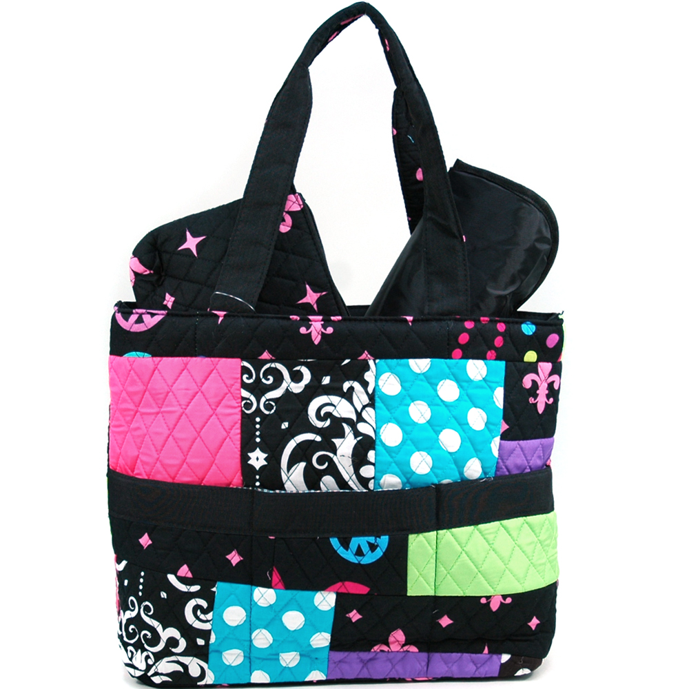 Rosen Blue® Quilting Bee 3Piece Diaper Tote