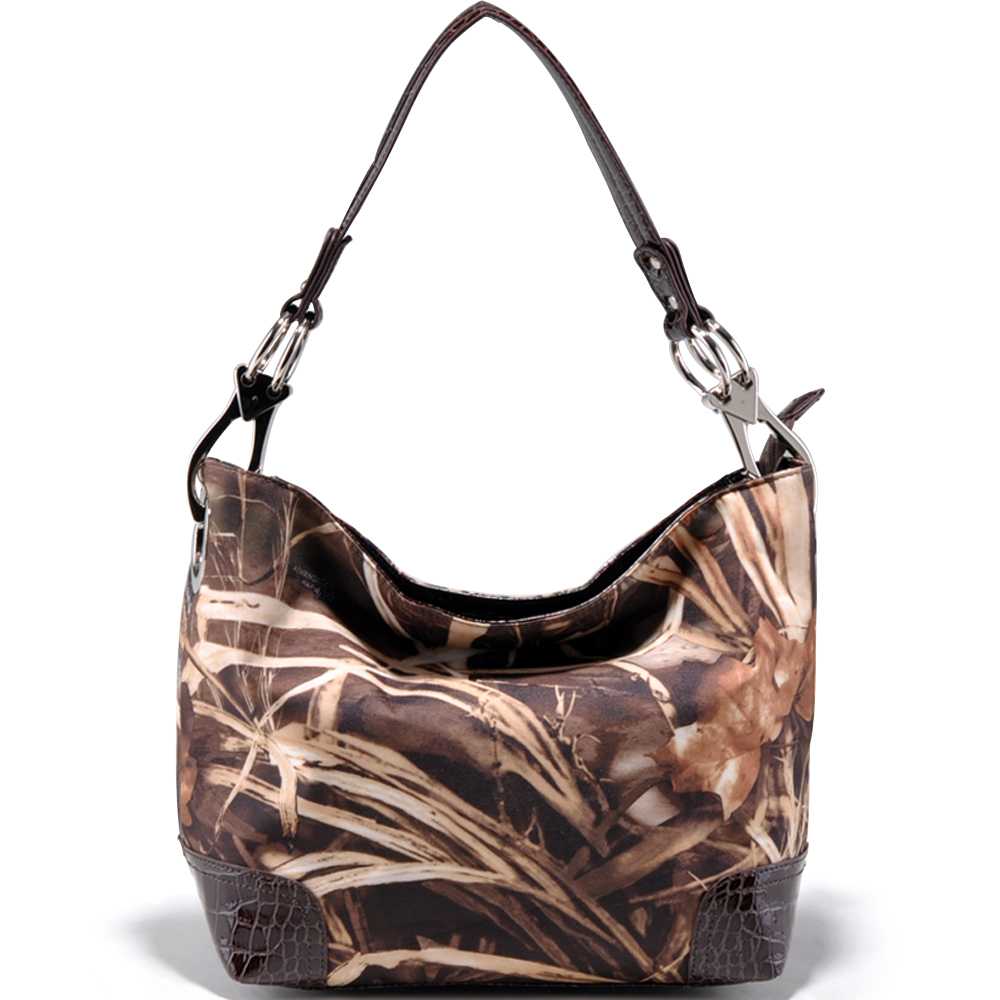 Realtree® Max-4 Camo Croco Trim Hobo