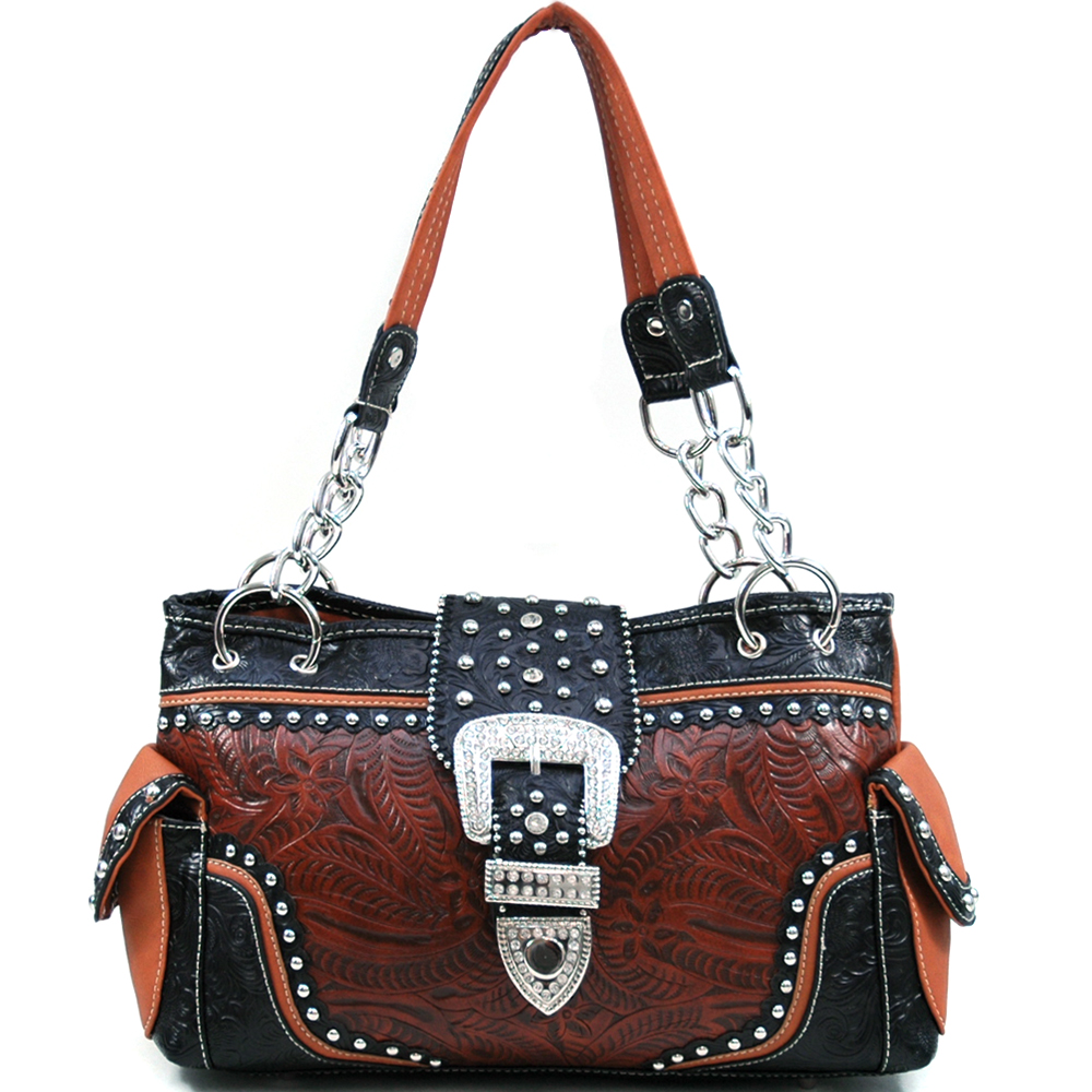 U Style® Maiden Hair Fern Buckle Shoulder Bag