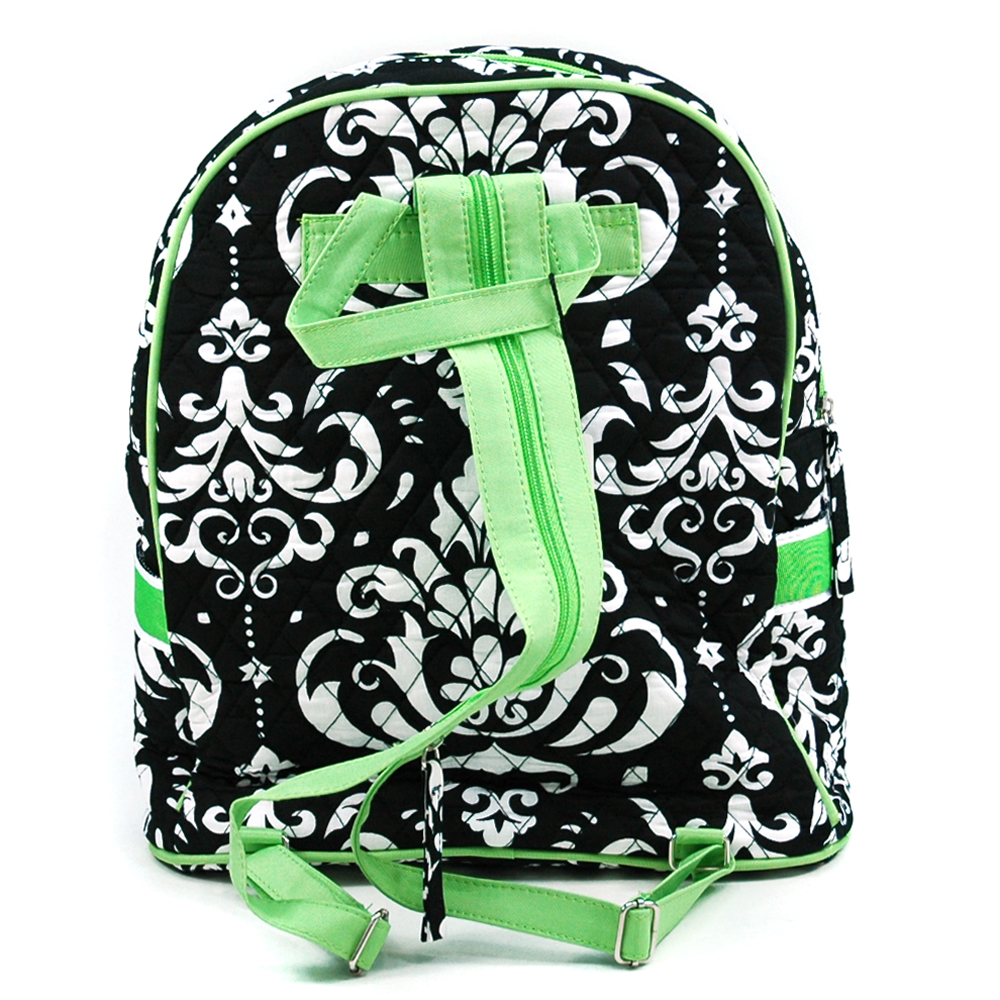 Fashlets Generic Quilted Damask Print Backpack