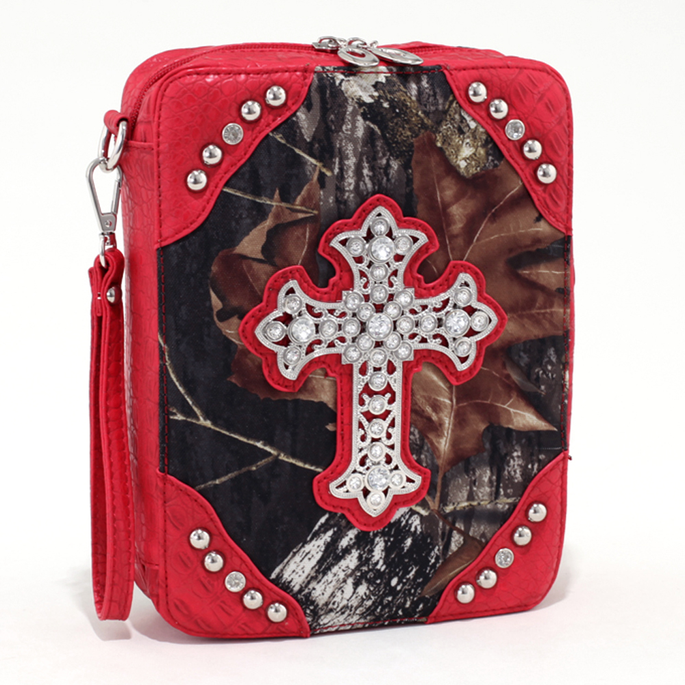 Mossy Oak® Arctic Camo Rhinestone Cross Bible Cover