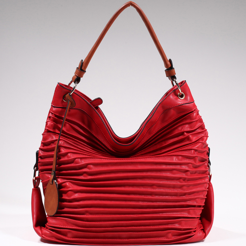 Emperia® Pleated Hobo with Tassel Accent