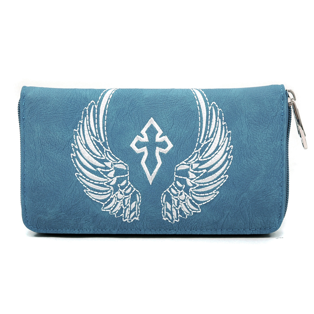 U Style® Eagle of Delight Stitched Cross Wallet