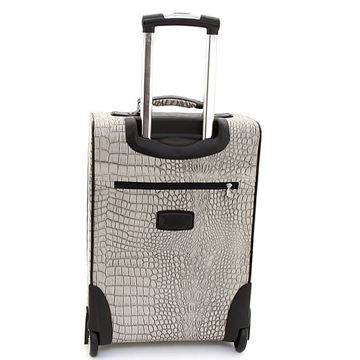 Women's Croco Western Cross 2-Piece Luggage Set w/ Wheels & Extendable Handle - Blue